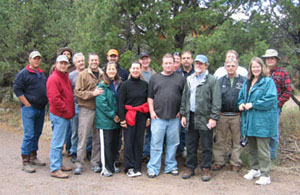 Solar Heating and Natural Building Class Participants.